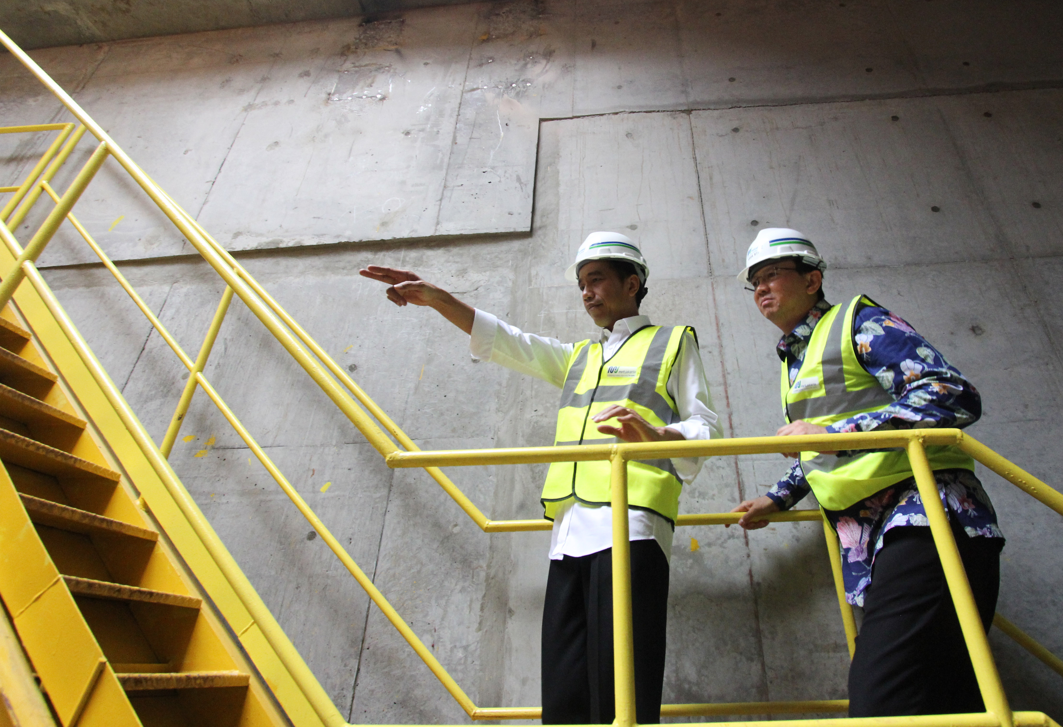 Presiden Joko Widodo Melakukan Peninjauan Proyek MRT Jakarta. FOTO : VIBIZMEDIA.COM/RULLY