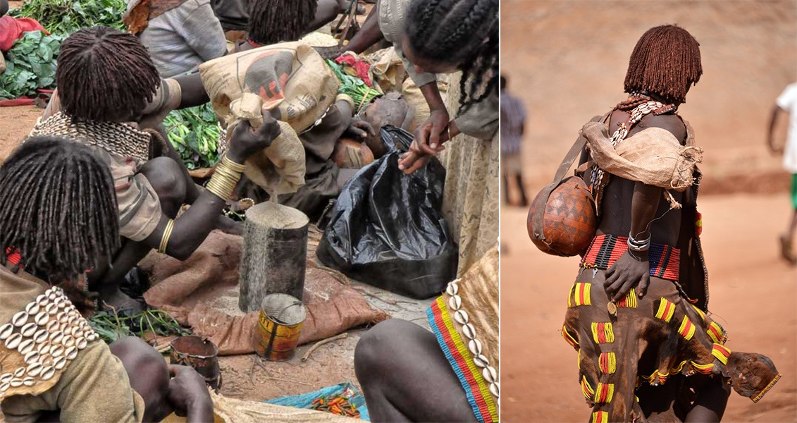 (Ki) Banna Tribe, K'Ey Afer Market, (Ka) Demeka Market, Ethiopia. Flickr - Rod waddington.