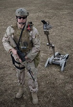 090310-N-7090S-001 INDIAN HEAD, Md. (March 10, 2009) Explosive ordnance disposal technicians are using remote-controlled machines to help detect and defuse improvised explosive devices. (U.S. Navy photo by Mass Communication Specialist 2nd Class Jhi L. Scott/Released)