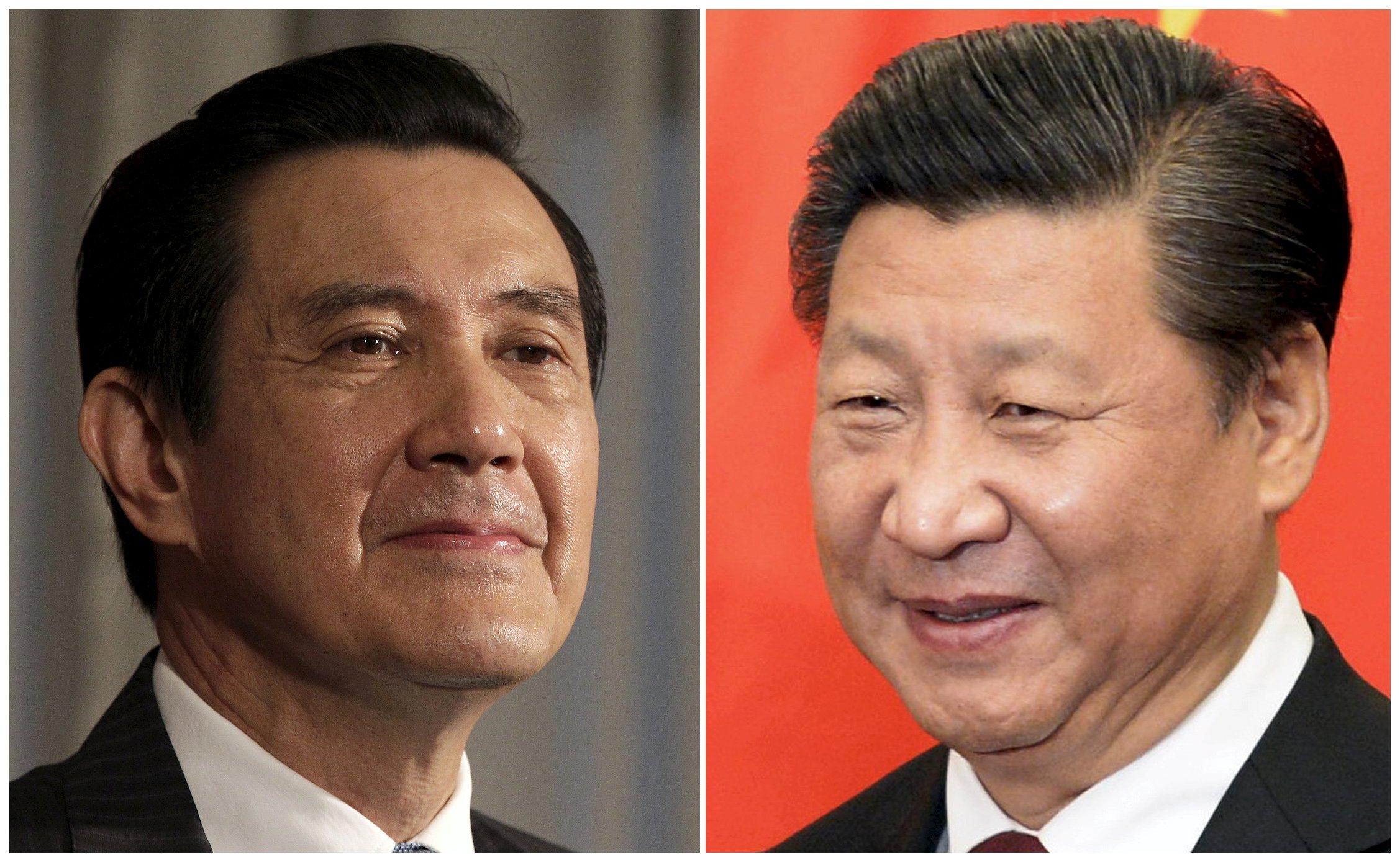 Kombinasi foto menampilkan Presiden Taiwan Ma Ying-jeou (kiri) mendengarkan pertanyaan saat wawancara dengan Reuters di Kantor Kepresidenan di Taipei, arsip foto tanggal 1 Juni 2012, dan Presiden Tiongkok Xi Jinping (kanan) tersenyum sebelum pertemuan di Wisma Tamu Diaoyutai di Beijing, Tiongkok, arsip foto tanggal 29 Oktober 2015. Pemimpin Tiongkok dan Taiwan akan bertemu di Singapura, Sabtu (7/11), untuk membahas masalah lintas selat, dalam pertemuan pertama para pemimpin dari kedua negara sejak perang sipil Tiongkok berakhir tahun 1949. REUTERS/Pichi Chuang/Muneyoshi Someya.