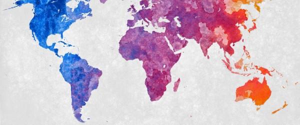 flickr - World Map - Abstract Acrylic - Nicolas Raymond