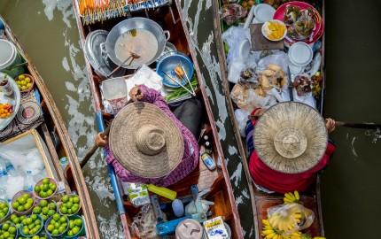 Sebuah pasar di Thailand. Flickr - Georgie Pauwels