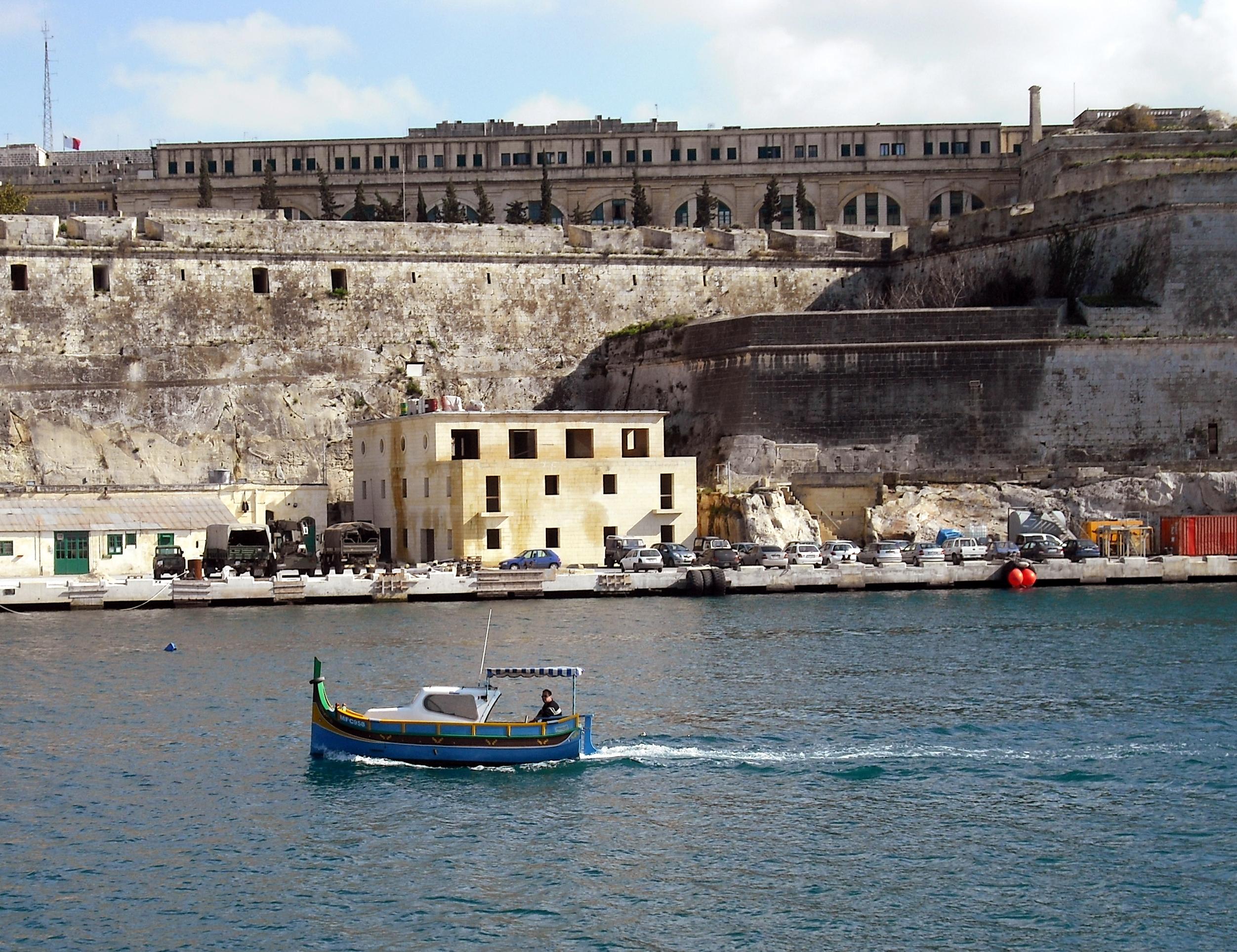 Maltese Fishing Boat, The Grand Harbour, Valletta, Malta.