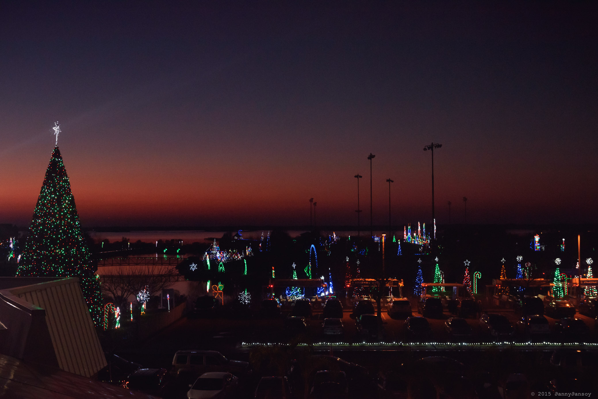 Ocean City, MD - A bayside view over looking the annual Winterfest of Lights display at Northside Park shortly after the sun dipped below the horizon. Flickr - Dan G.