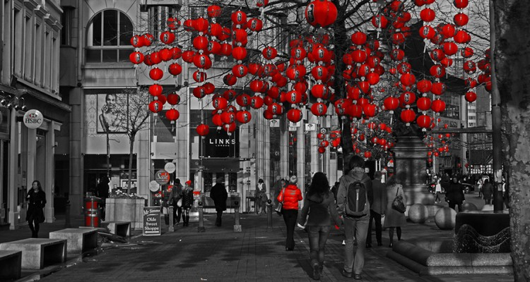 Flickr - Lanterns in St Annes Square, Manchester, for the Chinese New Year - Gidzy (1)