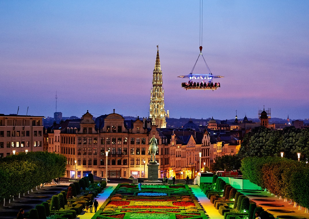 Dinner in The Sky - Brussels, Belgium