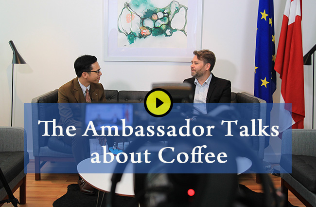 The Ambassador talks about coffee