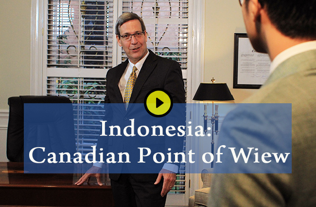 Indonesia Canadian point of views